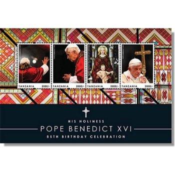 Papst Benedikt XVI. - Kleinbogen postfrisch, Tanzania