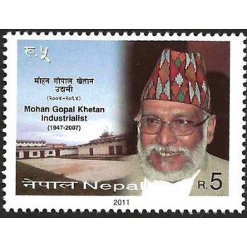 Mohan Gopal Khetan – Briefmarke postfrisch, Nepal