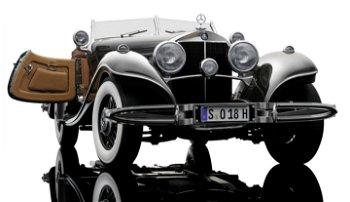 Modellauto:Mercedes-Benz 500 K Spezial Roadster von 1934, braun(Bauer, 1:12)