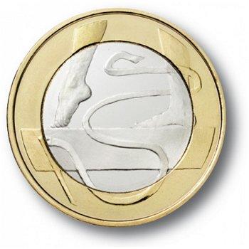 Es lebe der Sport - Gymnastik, 5 Euro Münze, Finnland