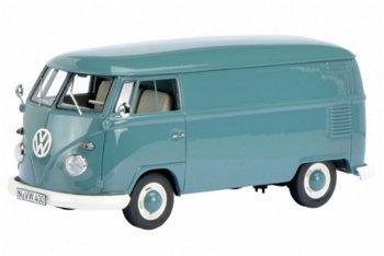 Modellauto:VW T1 Kastenwagen, taubenblau(Schuco/PRO.R32, 1:32)