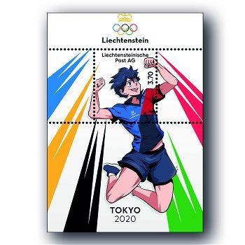 Olympische Spiele 2021 - Block postfrisch, Liechtenstein
