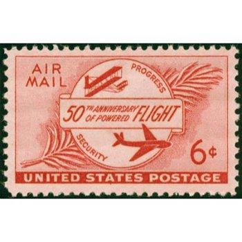 50 Jahre Motorflug - Briefmarke postfrisch, Katalog-Nr. 640, USA