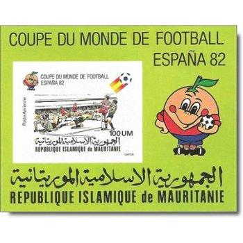 Fußball-Weltmeisterschaft 1982, Spanien - Briefmarken-Block ungezähnt postfrisch, Katalog-Nr. 696I B