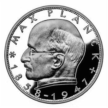 """2-DM-Münzen """"Max Planck"""" - Jahrgang 1970, alle vier Prägezeichen"""