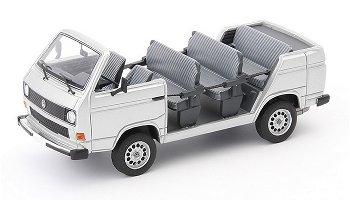 VW T3 Werksbesichtigungscabrio von 1982, silber - AutoCult, 1:43