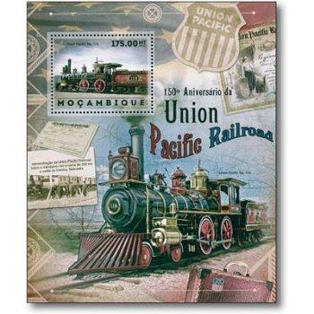 Dampflokomotive - Briefmarken-Block postfrisch, Mocambique