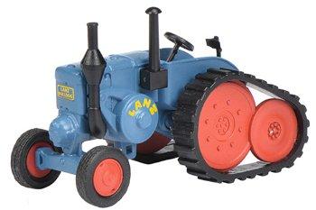 Modell-Traktor:Lanz Bulldog mit Ansteckraupe, blau(Schuco, 1:87)
