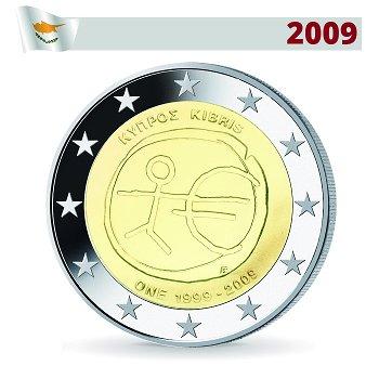 2 Euro Münze 2009, Wirtschafts- und Währungsunion, Zypern