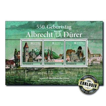 550. Geburtstag Albrecht Dürer - Briefmarkenblock postfrisch, Österreich