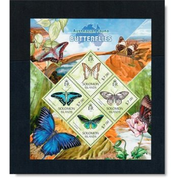 Schmetterlinge II - Briefmarken-Block postfrisch, Salomon-Inseln