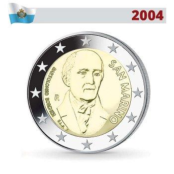 2 Euro Münze 2004, Bartolomeo Borghesi, San Marino