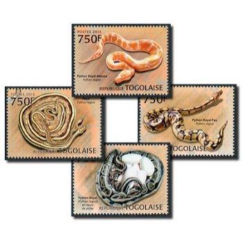 Python - 4 Briefmarken postfrisch, Togo
