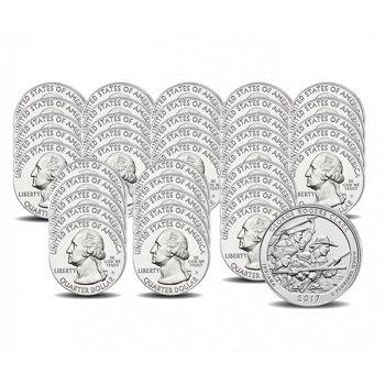 Komplette Sammlung der Nationalpark Quarter Münzen, Hot Springs bis River of No Return, USA
