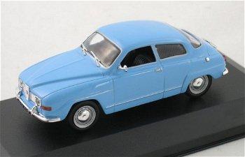 Modellauto:Saab 96 V4 von 1970, blau(WhiteBox, 1:43)