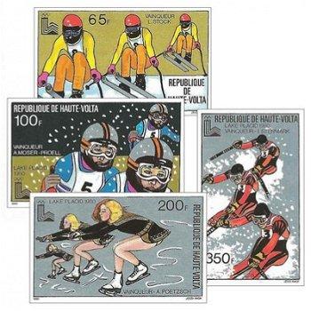 Medaillengewinner von Lake Placid – Briefmarken postfrisch, ungezähnt, Katalog-Nr. 787-790, Obervolt