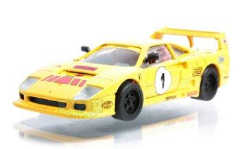 Modellauto:Ferrari F 40 # 1, gelb(Hot Wheels/Mattel, 1:43)