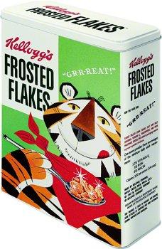 Nostalgische Blechdose:Kelloggs´ Frosted Flakes - Tony Tiger -(Nostalgic Art, Gr. XL)