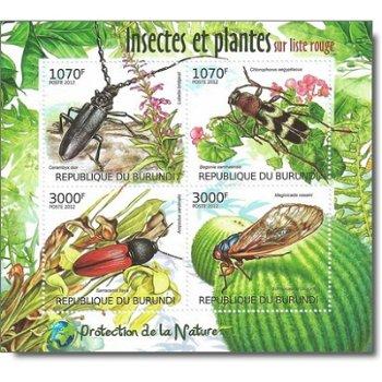 Insekten - Briefmarken-Block postfrisch, Burundi