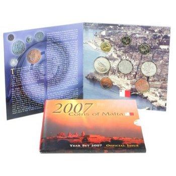 Kursmünzsatz 2007 - Malta, Stempelglanz