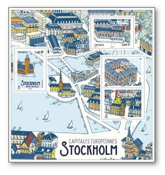 Hauptstädte Europas, Stockholm - Block postfrisch, Frankreich