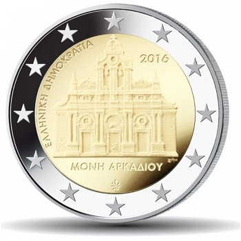 150. Jahrestag des Holocausts im Arkadi Kloster, 2 Euro Münze 2016, Griechenland