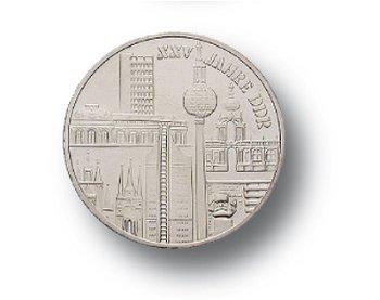 10-Mark-Münze 197, 25 Jahre DDR - Städtemotiv, DDR
