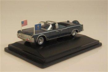 Modellauto:Lincoln Continental X 100 Staatslimousine, blau-metallic(Oxford, 1:87)