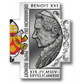 "Kreuzmünze ""Abdankung von Papst Benedikt XVI."", Kongo"