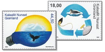 Umweltschutz in Grönland IV - 2 Briefmarken postfrisch, Grönland