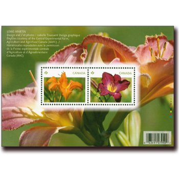 Taglilien - Briefmarken-Block postfrisch, Canada