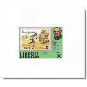 100. Todestag von Rowland Hill - 6 Luxusblocks postfrisch, Katalog-Nr. 1098 B-1102 B, Liberia