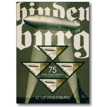 LZ 129 Hindenburg - Briefmarken-Block, Ghana