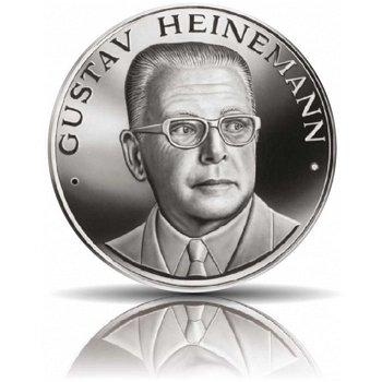 Die deutschen Bundespräsidenten: Gustav Heinemann, Feinsilbermedaille