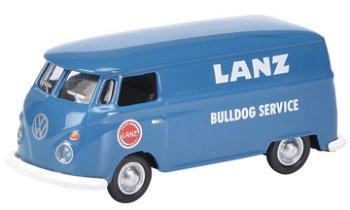 Modellauto:VW T1c Kastenwagen,- Lanz Bulldog-Service -(Schuco, 1:87)