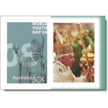 Papst Benedikt XVI. / Weltjugendtag Sydney 2008 - personalisierte Briefmarke postfrisch, Australien
