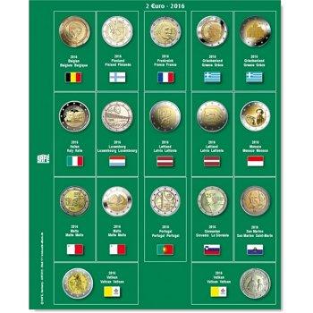 SAFE Münzblatt für 2 Euro Münzen 2016, Safe 7341-17
