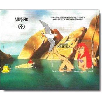 Arielle, die Meerjungfrau - Briefmarken-Block postfrisch, Dominica