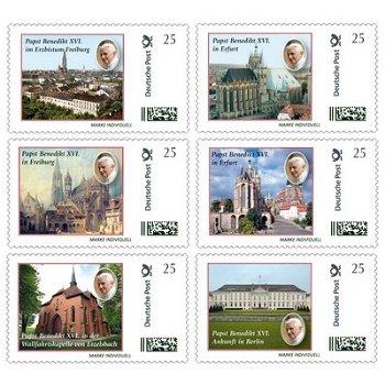 Papst Benedikt XVI. in Deutschland - 6 Marken Individuell postfrisch