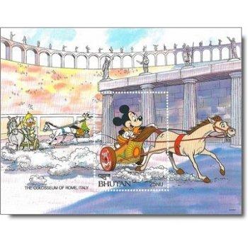 "Kolosseum ""Disney-Figuren"" - Briefmarken-Block postfrisch, Bhutan"