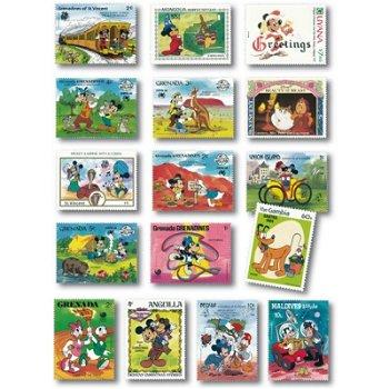 Disney - 16 verschiedene Briefmarken postfrisch