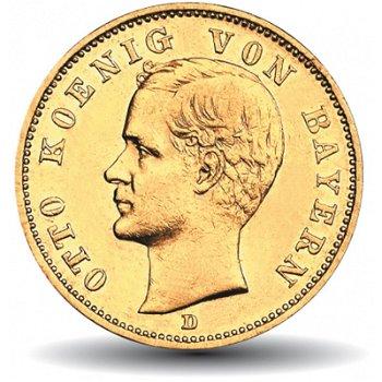 10 Mark Goldmünze König Otto, Katalog-Nr. 199, Königreich Bayern