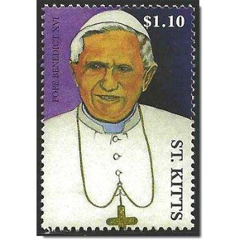 Papst Benedikt XVI. - Briefmarke postfrisch, St. Kitts