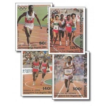 Olympische Sommerspiele 1984 - 4 Briefmarken ungezähnt postfrisch, Katalog-Nr. 900-903, Niger
