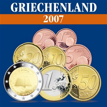 Griechenland – Kursmünzensatz 2007