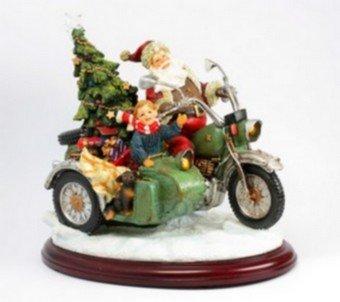 Der Weihnachtsmann auf dem Motorrad(Spieluhrenwelt)