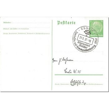 4300 Essen - postal stationery & quot; Allgemeine Deutscher.Sparkassen und Kommunalbankentag 1937 & quot;