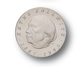10-Mark-Münze 1967, 100. Geburtstag Käthe Kollwitz, DDR