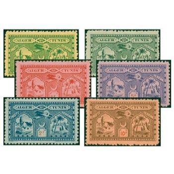 Algerien – 6 Flugpostbriefmarken von 1930