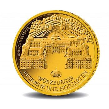 Würzburger Residenz und Hofgarten, 100 Euro Goldmünze 2010, Deutschland